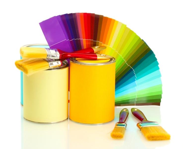 varias cores de tintas
